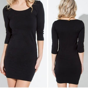 Black Fitted Silhoutew dress